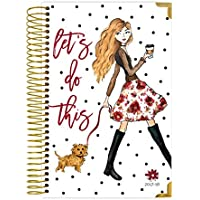 bloom daily planners 2017-18 Academic Year HARD COVER Daily Planner - Passion/Goal Organizer - Monthly Datebook and Calendar - August 2017 - July 2018 - 6