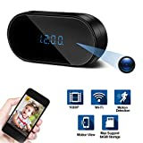 Hidden Spy Camera Clock, Ruidla Wireless Mini Hidden Camera Wifi with Motion Detection HD 1080P Nanny Cam Surveillance for Home Office