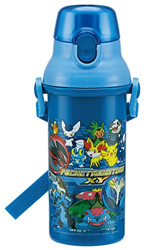Direct Drinking Plastic One-touch Bottle 480ml Pokemon XY