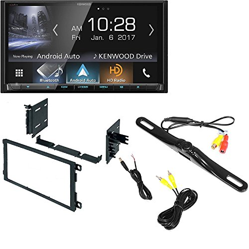 Kenwood Excelon DDX9904S In-Dash DVD Receiver with Apple CarPlay & Android Auto Dash Mounting Installation Kit+ Radio Antenna Adapter + Night Vision Rear View Backup Color Camera