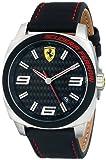 Ferrari Homme 46mm Noir Cuir Bracelet Acier Inoxydable Boitier Montre 0830163