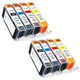 Sophia Global Compatible Ink Cartridge Replacement for Canon CLI-221 (2 Small Black, 2 Cyan, 2 Magenta, and 2 Yellow)