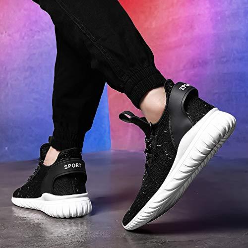 KMJBS-Zapatos De Gran Tamaño Aire Apretado Luz Men 'S A Shoes Volando A 'S Tejer Blanco Treinta 85a113