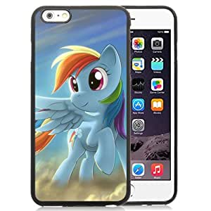 Unique and Fashionable Iphone 6 Plus Case Design with My Little Pony Rainbow Dash Black TPU case for iphone 6 Plus 5.5 Inch
