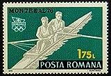 Rowing Kayak Sports -Handmade Framed Postage Stamp Art 0662