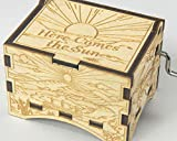 TheLaser'sEdge, Here Comes The Sun, Personalizable Music Box, Laser Engraved Wood (Artistic Standard)