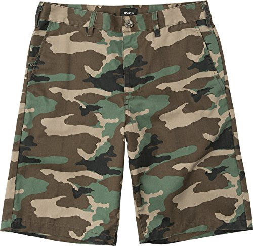 Slim Fit Walkshort - RVCA Men's Americana Chino Short, Camo, 38