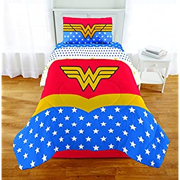 Amazon Com 4pc Dc Comics Wonder Woman Twin Bedding Set