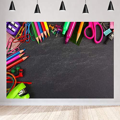 (Blackboard Pencil Stationery Photography Backdrops Photographic Studio Photo Background Happy Back to School Decoration Vinyl)