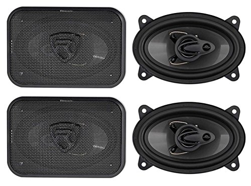 (4) Rockville RV46.3A 4x6 3-Way Car Speakers 1000 Watts/140 Watts RMS CEA Rated