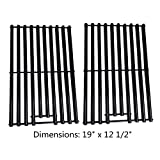 Zljoint Gloss Porcelain-Enameled Cooking Grid, Cooking Grates Replacement for Brinkmann 6345, Bakers & Chefs ST1017-012939, ST1017-012939, Charbroil and Charmglow Grills, Set of 2