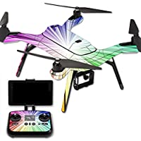 MightySkins Protective Vinyl Skin Decal for 3DR Solo Drone Quadcopter wrap cover sticker skins Rainbow Explosion