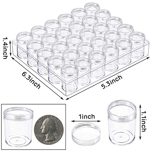 BigOtters 5D Embroidery Diamond Storage Box, Clear Plastic Bead Containers Diamond Painting Containers Organizer Storage with Lid for Jewelry DIY Art Crafts Nail Diamonds, Bead Storage