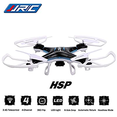 3D Roll Headless RC Quadcopter CEStore JJRC H5P 6 Axis 4Ch Gyro Drone Helicopter RTF Ready-To-Fly 2.4GHz Remote Control with Removable 2.0MP HD Video Camera Headless with LED Flying Saucer UFO from CEStore