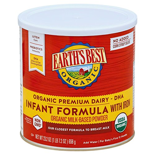 Earth's Best Organic Infant Formula with Iron, 23.2 Ounce