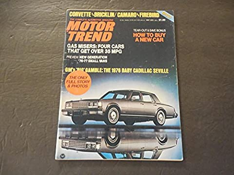 Motor Trend May 1975 Baby Cadillac Seville (Argument For Abortion) - Seville Motor