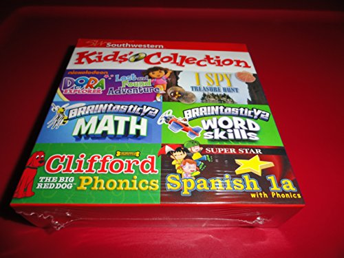 Cd Rom Kids Game Pc - Southwestern Skill Builder Kids Collection 6 Cd-rom Set Educational Games Dora the Explorer Clifford I Spy Nickelodeon $99 Retail