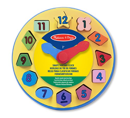 Wooden Clock With Forms 10159 by Melissa & Doug
