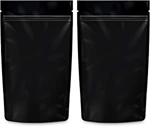 Loud Lock Mylar Bags Smell Proof -1000 Count (Black, 1/4 Ounce 6.7