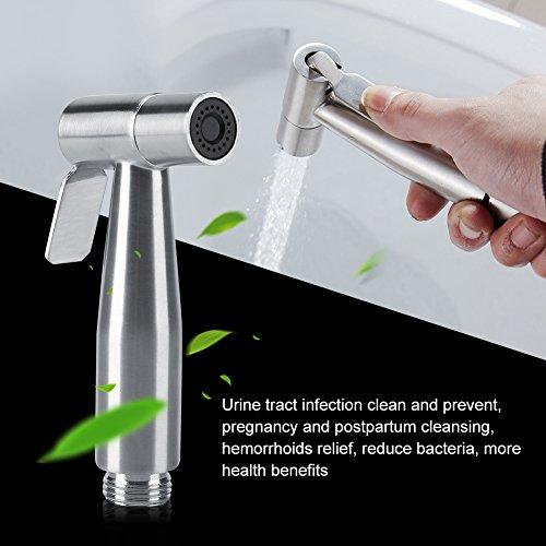 TOPINCN Cloth Diaper Sprayer, Premium Stainless Steel Diaper Sprayer for Toilet, Diaper Washer Hand Held Bidet Sprayer for Cloth Diapers by TOPINCN