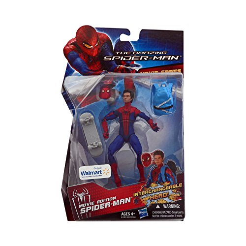 Marvel The Amazing Spider-Man Movie Edition 6 inch w/Interchangeable Head Backpack Skateboard Andrew Garfield by Spider-Man