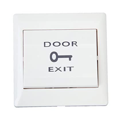 Generic Door Exit Push Release Button Switch for Electric Access Control White