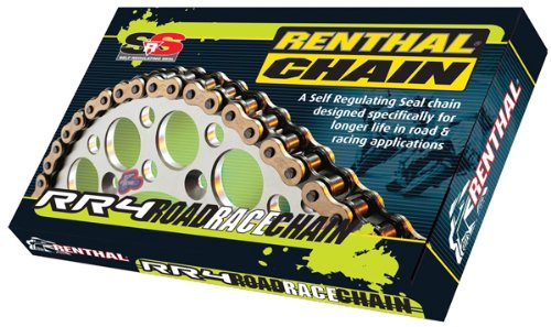 (Renthal 520 RR4 Race Chain (120 Links) (Gold))