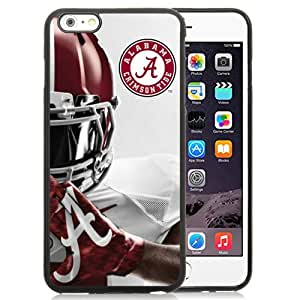 Fashionable And Nice Designed Case For iPhone 6 Plus 5.5 Inch TPU With Southeastern Conference Sec Football Alabama Crimson Tide 6 Black Phone Case