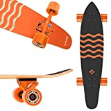 Street Surfing Kicktail Blown Out Longboard Skateboard Cruiser, 36'' Blown Out. Resistant Deck Design. Steady Strong Platform. Durable ABEC 9 Wheels