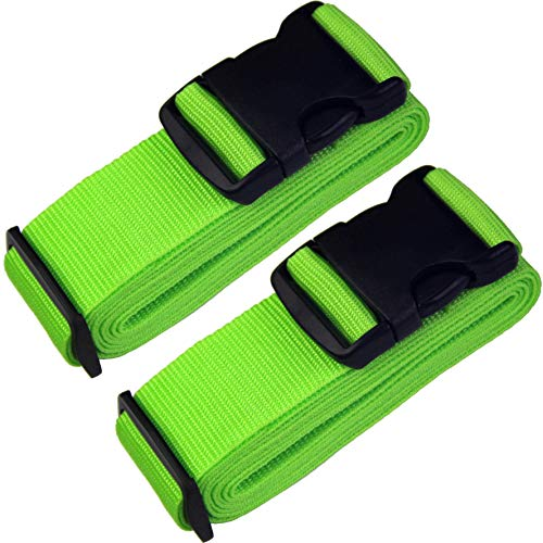 TRANVERS Luggage Straps Belt Suitcases Strap Luggage Accessories 2-Pack -