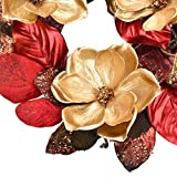 RED DECO Artificial Christmas Wreath - 20-22 Inch