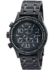 Nixon Womens A4041879 38-20 Chrono Watch, Black