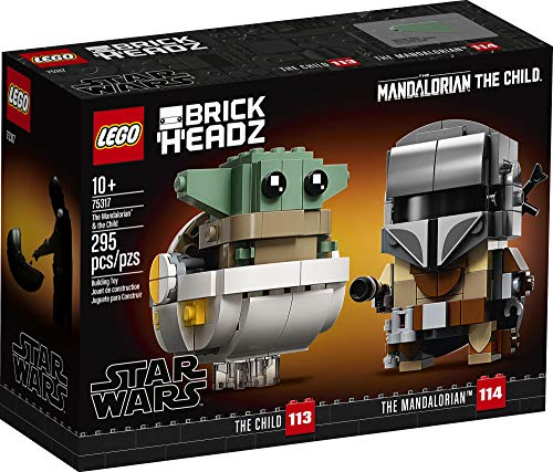 LEGO BrickHeadz Star Wars The Mandalorian & The Child 75317 Building Kit, Toy for Kids and Any Star Wars Fan Featuring…