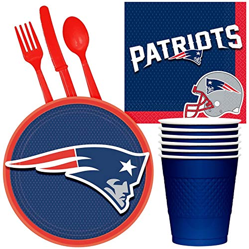 - BirthdayExpress NFL Party Supplies New England Patriots Tailgate Party Pack for 32
