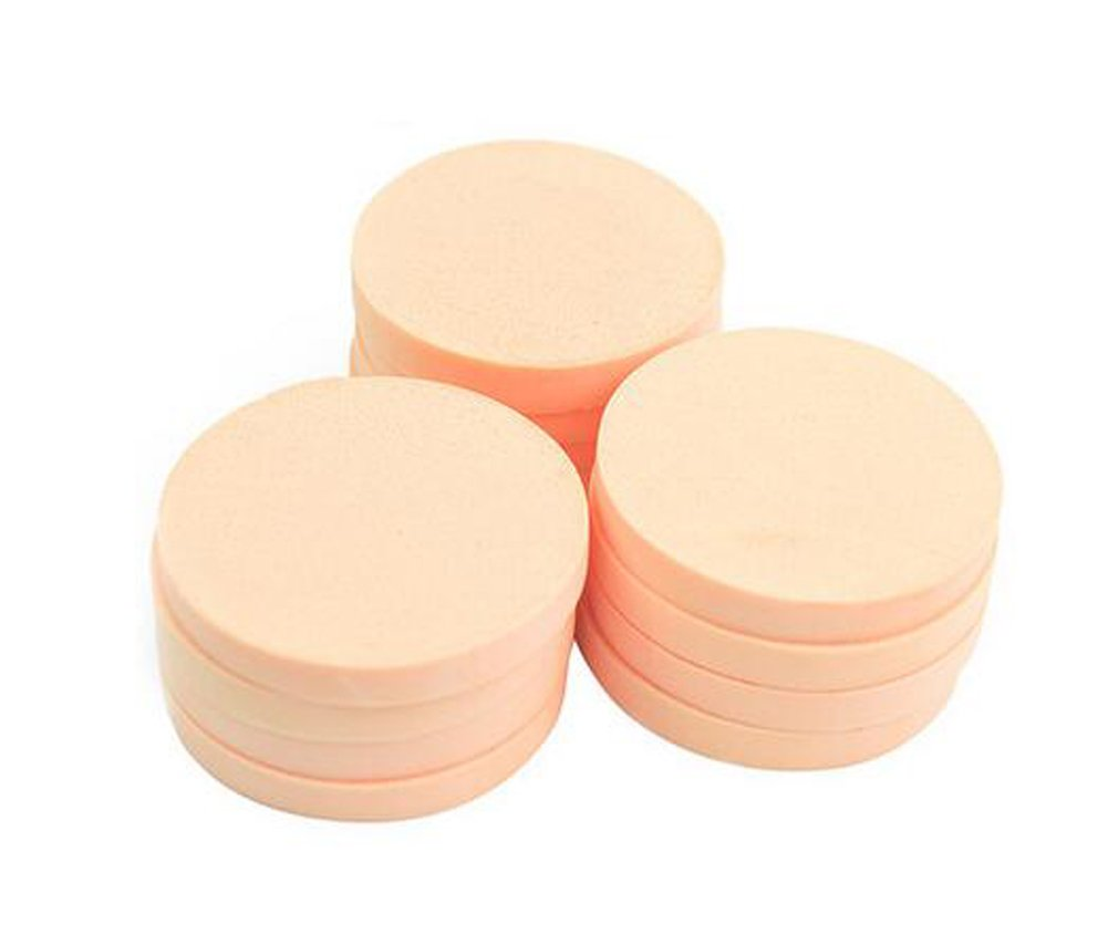 12pcs Women's Soft Makeup Beauty Eye Face Foundation Blender Facial Smooth Powder Puff Cosmetics Blush Applicators Round Sponges Use for Dry and Wet
