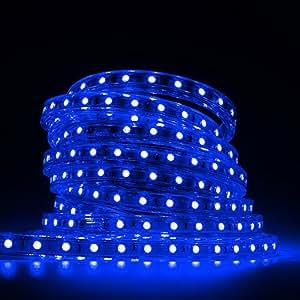Smd Led Rope Blue Light 5050 SMD 25m RGB LED Strip String Light, 60 LEDs/M 110V 8A Power Supply Flexible RGB LED Neon Light Strip LED Ribbon + Remote Controller Waterproof