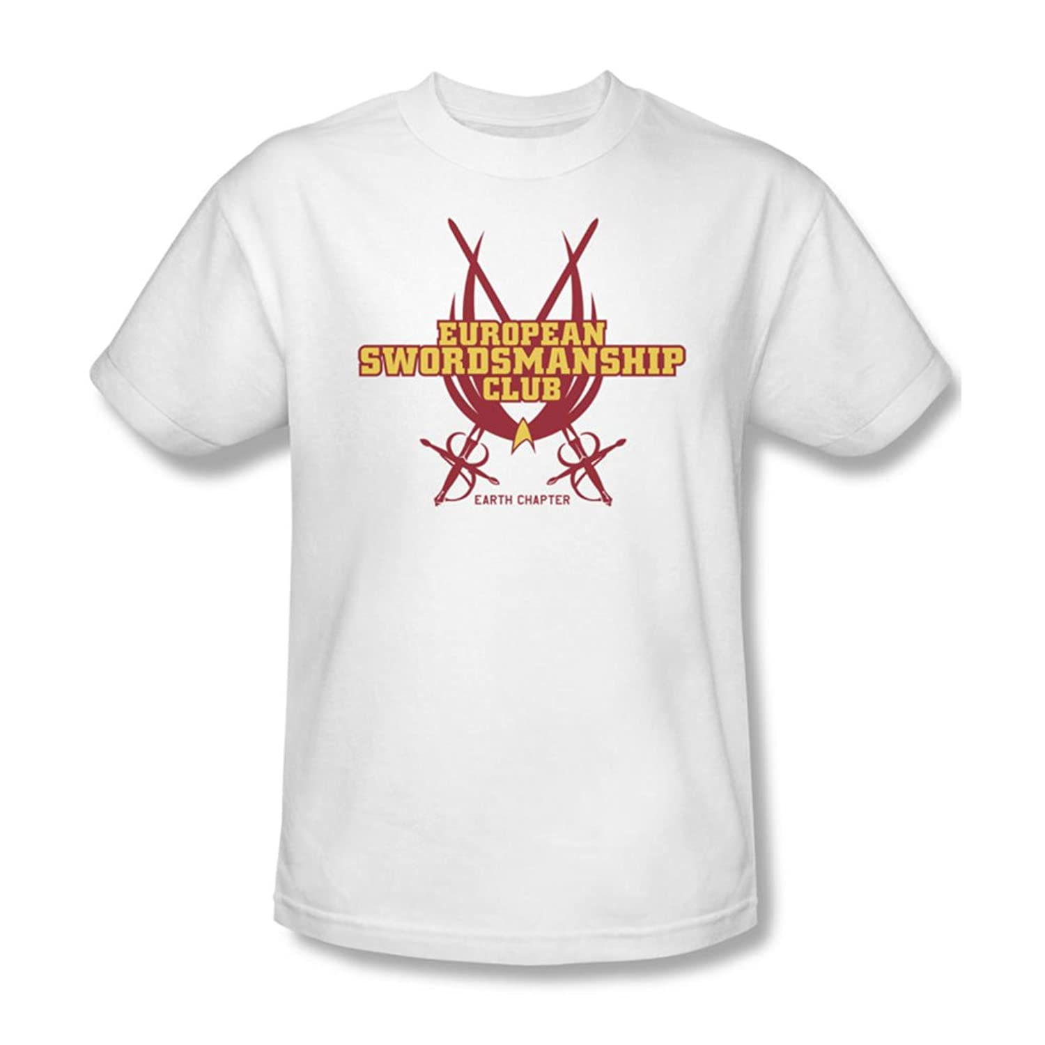 Star Trek - Mens Swordsmanship Club T-Shirt In White