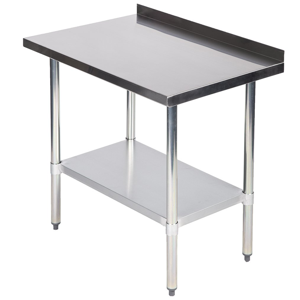 "24""x36""Stainless Steel Work Table w/Backsplash Kitchen Restaurant Table"