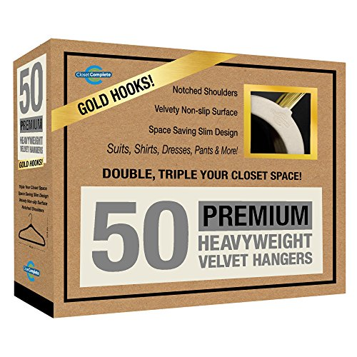 Closet Complete 71741 Velvet Suit Hangers, 50, Ivory