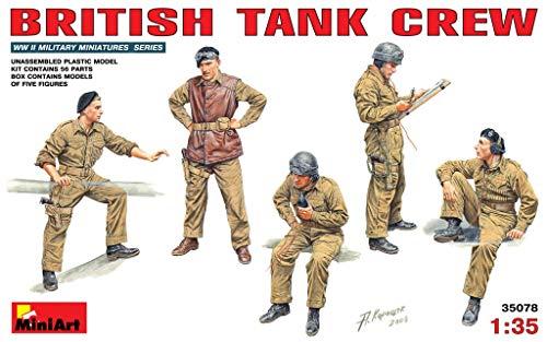 MiniArt 35078 British Tank Crew, WWII Military Miniatures 1/35 Scale Model Kit