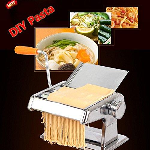 LYEJM 304 Stainless Steel Pasta Maker Machine 3 Rollers Manual Multifunctional Noodle Maker Machine LYEJM
