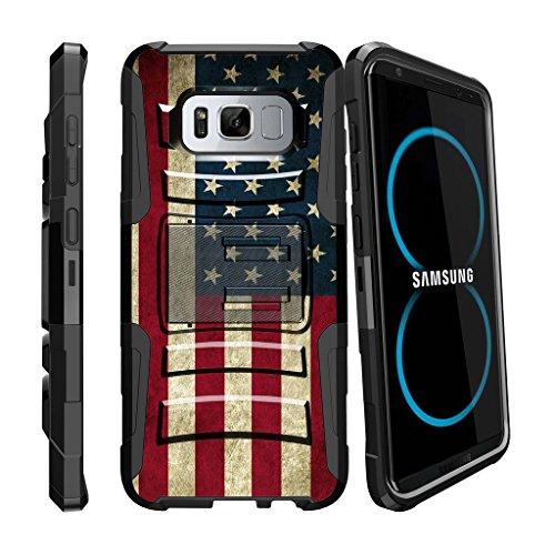 Samsung Galaxy S8 Plus Case | S8 Plus Case | SM-G955 Case Holster [Clip Armor] by MINITURTLE Stylus Pen + 2 Layer Hard Case Exterior Shock Resistant + Kickstand + Belt Clip