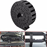 HITSAN 15mm x 30mm Nylon Towline Drag Chain Wire Carrier Engraving Machine Accessory One Piece