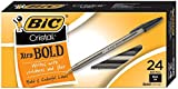 BIC Cristal Xtra Bold Ball Pen, Bold Point (1.6mm), Black, 24-Count