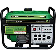 Lifan ES4100 Energy Storm Gas Powered Portable Generator with Recoil Start, 4100W