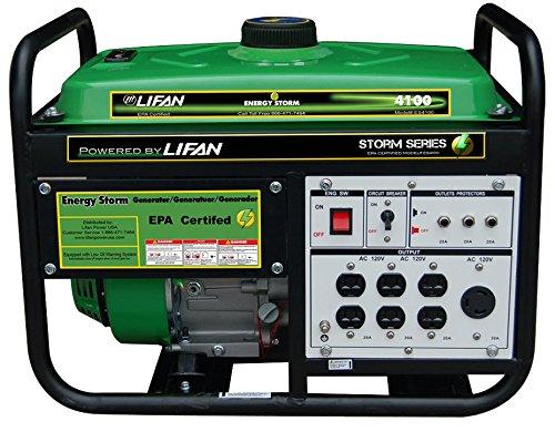 Lifan ES4100 Energy Storm Gas Powered Portable Generator ...