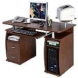 Computer PC Desk Work Station Office Home Monitor&Printer Shelf Furniture Walnu - Brand New And High Quality - Computer PC Desk Work Station Office - Home Monitor&Printer Shelf Furniture Walnut