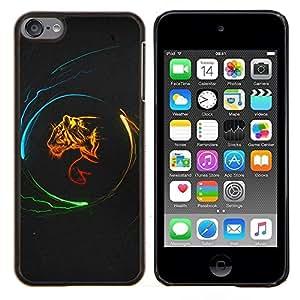 For Apple iPod Touch 6 6th Touch6 Case , Diseño Poder Tigre- Diseño Patrón Teléfono Caso Cubierta Case Bumper Duro Protección Case Cover Funda