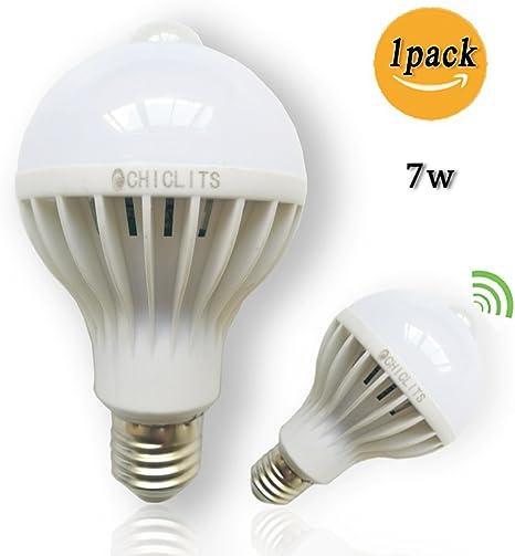 PIR Motion Sensor E27 5//7W LED Lamp Bulb Body Infrared Auto Energy Saving LightZ