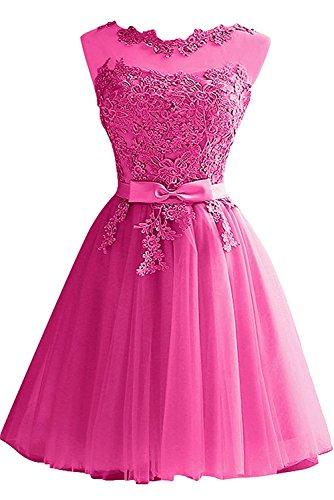 Partykleider Spitze Hundkragen Abendkleider Damen Kurz La mia Blau Braut Cocktailkleider Festlichkleider Pink Mini CxOnqS6UwH